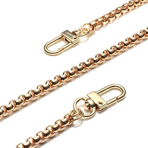 MYAMIA 120Cm Geldbörse Ketten Gurt Griff Schulter Quer Körper Handtasche Tasche Metallersatz-Gold