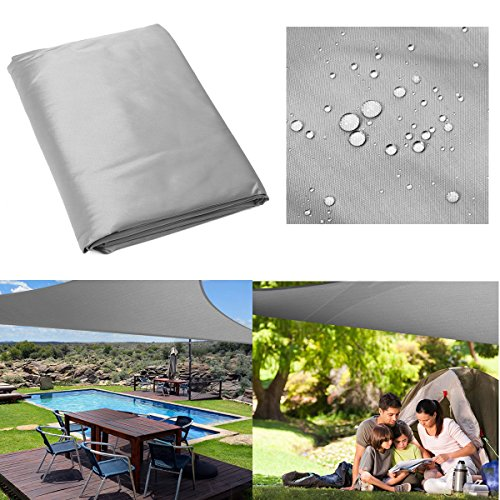 Pinkfishs 5x5x5M Triangle Tente Parasol Voile Toile Shadecloth auvent Exterieur 280gsm -