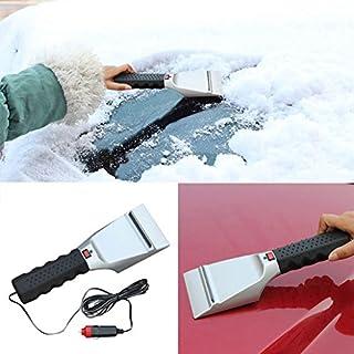 Wawer 12V Auto beheizt Auto Winter Fahrzeug Schnee Ice Scraper Fenster Schaufel Schaber (Silber)