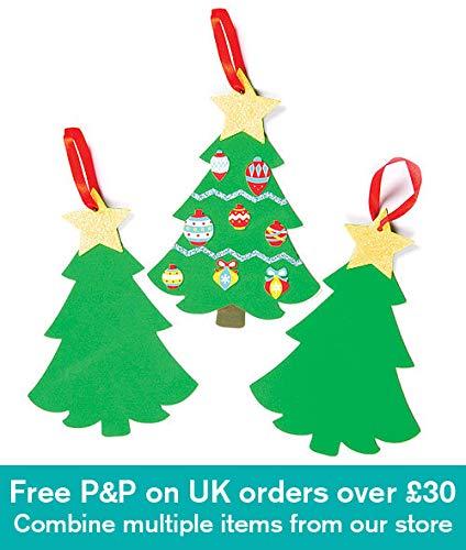 Baker Ross Kits de árboles de Navidad de Espuma (6 unidades) Adornos...