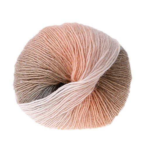 LANDUM Wolle Garn, handgewebte Regenbogen Bunte häkeln Kaschmir Wolle Mischung Garn Stricken - 1 Ball (50 g) - 18# - Wolle Und Kaschmir-mischung
