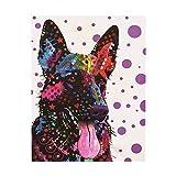 non-brand Sharplace DIY 5D Diamant Painting Handarbeit Basteln Wohnzimmer Dekor Wand Aufkleber Wanddekoration Hund Muster - Hund 2, 30 x 25 cm