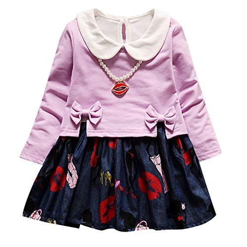Likecrazy T-Shirt Kleidung Set Mädchen Langarm Blume Floral Baby Sweatshirt Kleinkind Babykleidung Blumendruck Outfits Kleid petticoat unterrock Tanzkleid