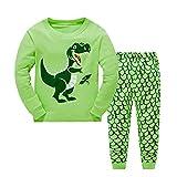 Niños Ropa De Invierno Sudadera,JiaMeng Pijamas para niños pequeños Ropa de Dormir de Dinosaurio Ropa de Dormir Pantalones Conjunto Trajes