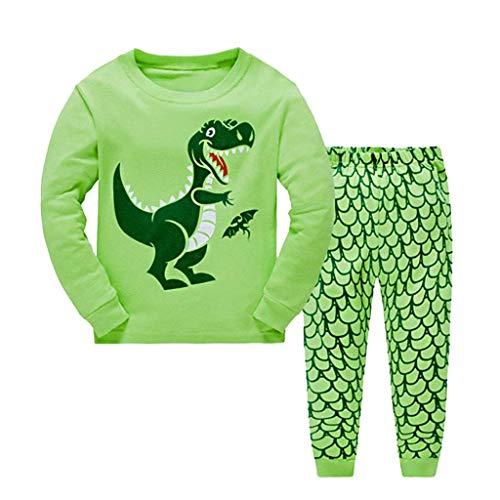 Kobay Babykleidung Mädchen Winter Unisex Schlafanzug Dinosaurier Nachtwäsche Kleidung Nachtwäsche Hosen Set ()