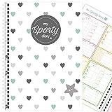 My Sporty Diary (12 Monate) Übungsplaner, Fitnessplaner, Fitness-Tagebuch, handgemacht, A5 (Blue...