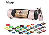 ZBIINO Portable TVs,Mobile Moviehouse,Tablet,WiFi Speaker with Subwoofer,Stream Music Player with 5.5 inch HD Touch Screen,Smart Voice Control by OK Google,Gift (Rose Gold)