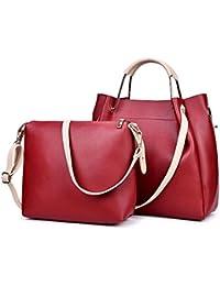 Alibao High Quality Designer PU Leather Women's And Girls Handbag + Shoulder Bag Combo Of 2 Pieces ( Rubine Red...