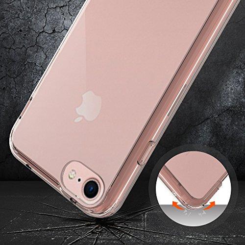 Custodia iPhone 7, LK Case [Trasparente Clear] Ultra Sottile Shock-Absorption Bumper TPU Cover Protettiva - Oro rosa Oro rosa