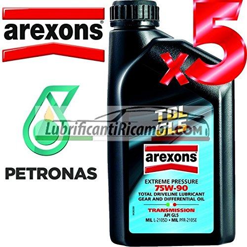 AREXONS PETRONAS TDL API GL5 75w90 Olio Lubrificante Cambi, Differenziali e Trasmissioni Meccaniche 100% Sintetico 5 LT