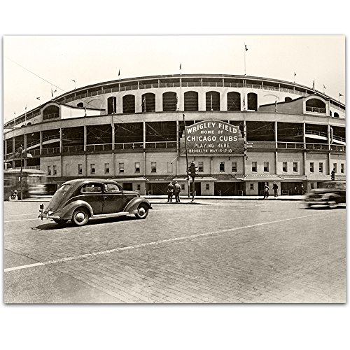 Lone Star Art Vintage Wrigley Field Foto-11x 14ungerahmt-Tolles Sport Bar Decor und Geschenk für Baseball Fans
