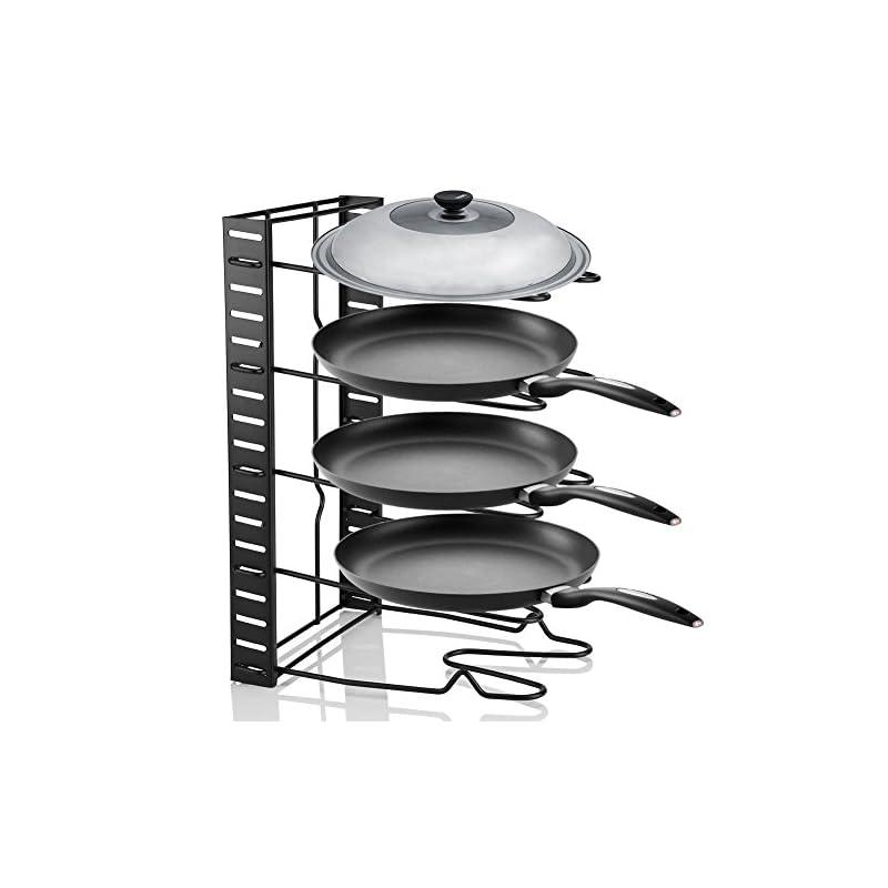 Pfannehalter Deckel Lagerregal Kche Organizer Kochgeschirr Stnder Topfdeckelhalter Aus Metall