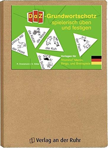 DaZ-Grundwortschatz spielerisch üben und festigen: Vorlagen für Triomino, Memo, Bingo und Brettspiele