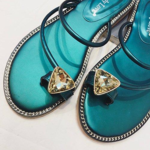 WYMBS femmes chaussures plates occasionnels chaussures de travail confortables talons plats Blue