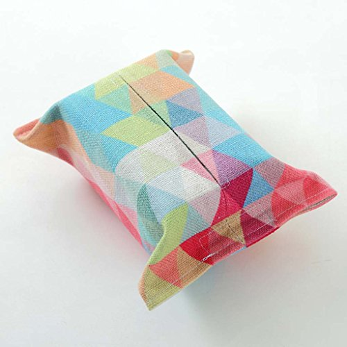 Kleenex - box European-Art Tissue-Box Wohnzimmer Auto Stoff einfache Retro-Baumwolle Papier Handtuch Tasche ( Farbe : C ) (Papier-handtücher Personalisierte)
