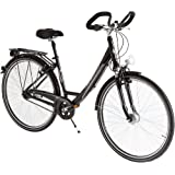 Ultrasport Damen Aluminium City-Fahrrad, 7 Gang, Rahmenhöhe 45cm, Reifengröße 28 Zoll (71,1 cm)