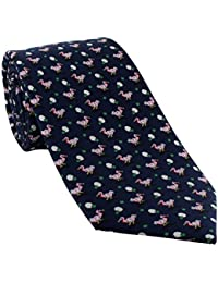 Navy Dodo Silk Tie