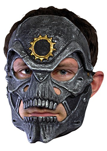 Schaurige Trophäenmaske Metallschädel Eisenmaske LARP-Maske Krieger Fantasymaske Fasching Kostüm (Zombie Militär Kostüm)