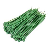 Daorier Lot de 100 Serre-Câbles de Nylon Attache-Câble Colliers de Serrage Plastique Autobloquant 3×150 mm (Vert)