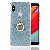 Funluna Xiaomi Redmi S2 Hülle, Bling Glitter Sparkle Ultra Slim Glatt Leichte Flexible Gel Bumper TPU Silikon Schutz Hülle mit Ring Grip Ständer für Xiaomi Redmi S2