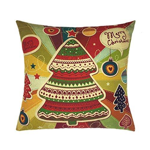Zolimx Weihnachts Dekoration Festival Kissen Kasten Sofa Bett Zuhause Kissenbezug (B)
