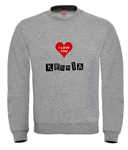Felpa Keshia - Print Your Name Black
