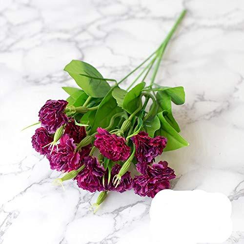 Kpgbfdxw 10 teste 1 bouquet di fiori garofani di seta fiori artificiali regalo festa della mamma fiori di falso economici a buon mercato decorazione casa matrimonio, style5