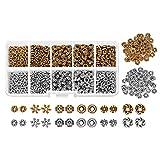 Juego de 600 cuentas espaciadoras para joyería, abalorios de plata tibetana envejecida, accesorios surtidos para hacer pulseras y collares