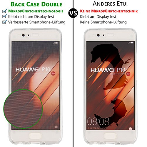 EGO® Double Touch Case komplette TPU Silikon Hülle für iPhone 5 5S SE 360 ° Grad vorne hinten Beidseitiger Schutz Full Handy Tasche transparent Front Back doppelseitig Motiv 2 + Kabel