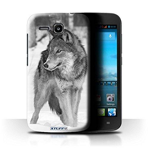 Stuff4® Hülle/Hülle für Huawei Ascend Y600 / Wolf Muster/Zoo-Tiere Kollektion