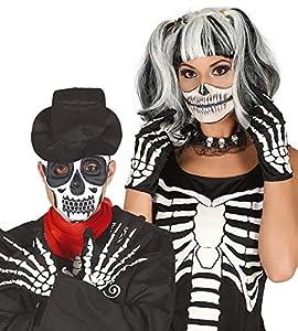 FIESTAS GUIRCA Guantes de Esqueleto para Hombre Disfraz de Horror Mujer
