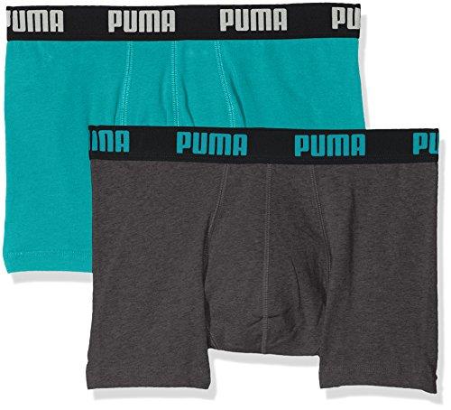 Puma–Boxer da uomo Basic Boxer 2paia navigate/Grey melange