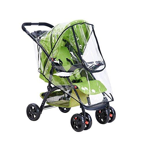 General estilo cubierta de viento la lluvia para carrito de bebé, bebé coche EVA película Poncho, con cremallera, agujeros transpirable Talla:style2