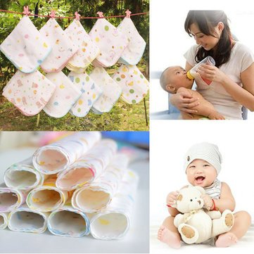 10Pcs-Cotton-Muslin-Baby-Gauze-Washcloth-Feeding-Wipe-Sweat-Towel