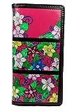 Shagwear Junge-Damen Geldbörse, Large Purse: Verschiedene Farben und Designs: (Garten Raupe Fuchsia/Caterpillar Garden)