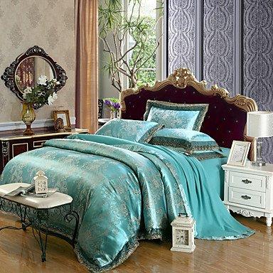 AIURLIFE Tejido Tencel modal, ropa de cama 4 piezas Suite nupcial m 1,5-1,8 m y 2.0 m , king