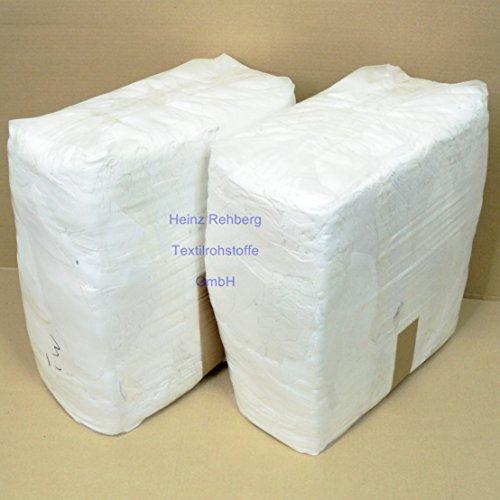 Rehberg´s 20 kg Putzlappen geschnitten aus Trikot weiss A Baumwolle Putztücher -
