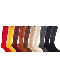 Lian estilo de vida los niños 4 pares rodilla alta calcetines de lana 3 tamaños 13