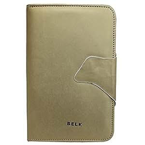 Jo Jo Belk Flip Flap Case Cover Pouch Carry For DatawindUbislate 3G7 Golden