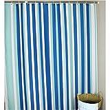 ZXCV Das Hotel Blue Polyester Duschvorhang Wasserdicht Verdickung WC Trennwand Vorhang (Farbe : Blau, Größe : 180 * 180cm)