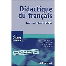 Didactique du français : Fondements d'une discipline