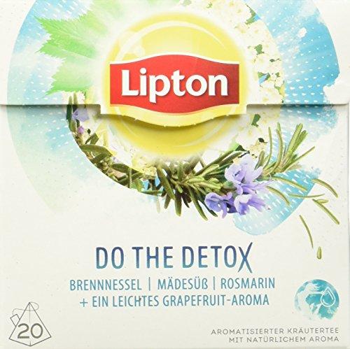 Lipton Kräutertee Do the Detox Pyramidenbeutel 20 Stück, 3er Pack (Öl Verbannen)