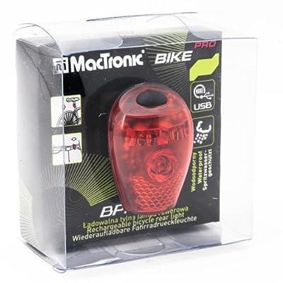 MacTronic Wiederaufladbare LED Rückleuchte, Schwarz, BPM-4SL Bike Pro von MacTronic - Outdoor Shop