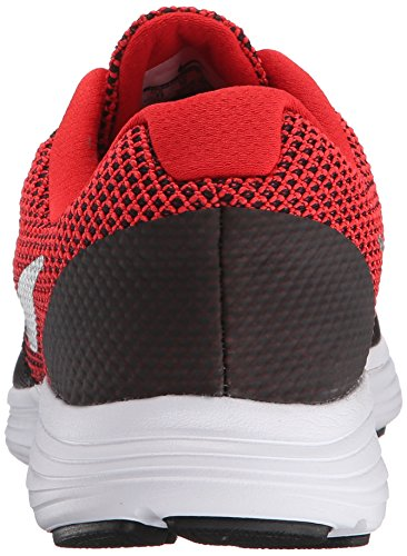 Nike Herren Revolution 3 Laufschuhe Mehrfarbig (University Red/Metallic Silver-Black-White 600)