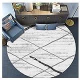 Love Home Runder Teppich-einfacher moderner Wohnzimmer-Couchtisch-Schlafzimmer-Computer-Polsterung (Farbe : 4, größe : 100cm)