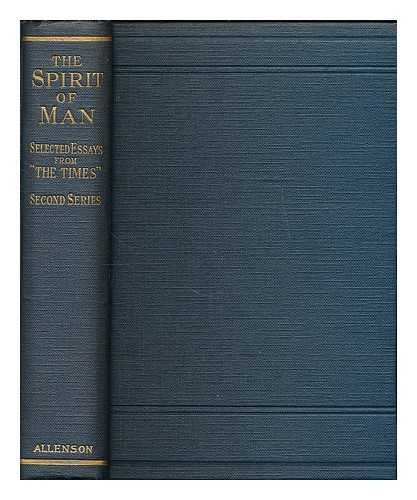 The spirit of man : being essays from