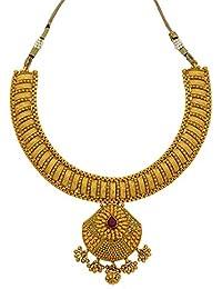 Mate Gold Plated Flora Necklace Set By Sapna FX NC 2005
