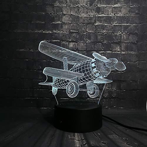 ll 3D Schlafzimmer Leuchtende Led Baby Zimmer Licht 7 Farbe USB Basis Geändert Touch Geschenk Sieben Farben 200 * 150 * 87Mm (Mit Wecker Basis) ()