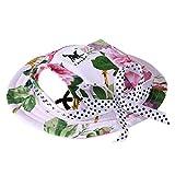 Pawaca visiera principessa estate cappello mesh traspirante cappello da sole Pet porosa, rotondo con holes-size S