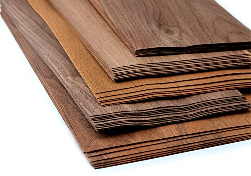 4-5 Furniere in der Holzart Nussbaum. Furnier geeignet für Modellbau, Ausbesserungsarbeiten, Fotografie, Restauration, DIY, basteln, Intarsien, Schmuck